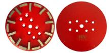 10 (250mm) Grinding Disc One Head With 20 Segments, For Hard Concrete 40 Grit red