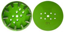 10 (250mm) Grinding Disc One Head With 20 Segments, For Hard Concrete 40 Grit green