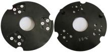 Fast Change Base Plate For Metal Trapezoid - 240mm, Three Bays - For KLINDEX Machines